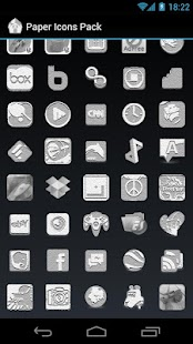 Paper Icons Pack - ADW - GO - screenshot thumbnail