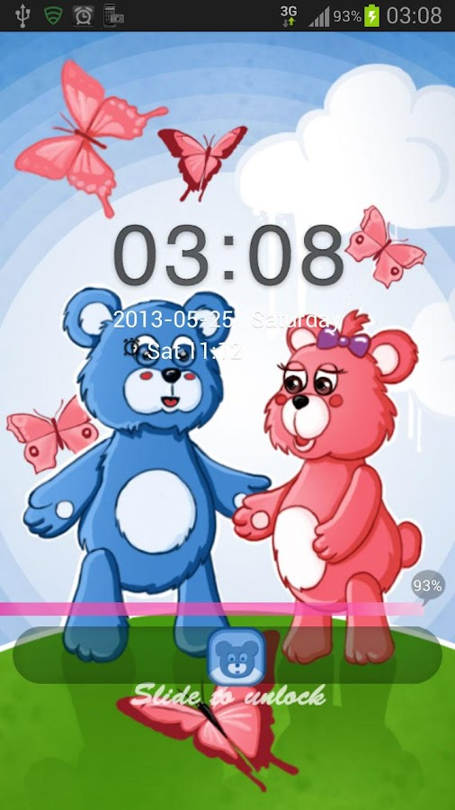GO Locker Theme teddy bears - screenshot