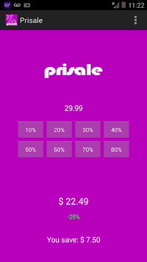 Prisale Shopping bud