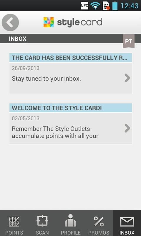 Style Card- screenshot