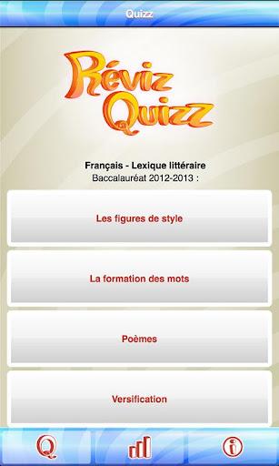 RévizQuizz Français Bac 2014
