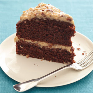 Light German Chocolate Cake.