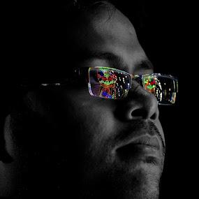 Specs Appeal by Pritam Saha - People Portraits of Men ( potrait, black and white,  )