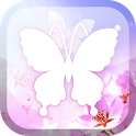 White Butterfly Live Wallpaper icon