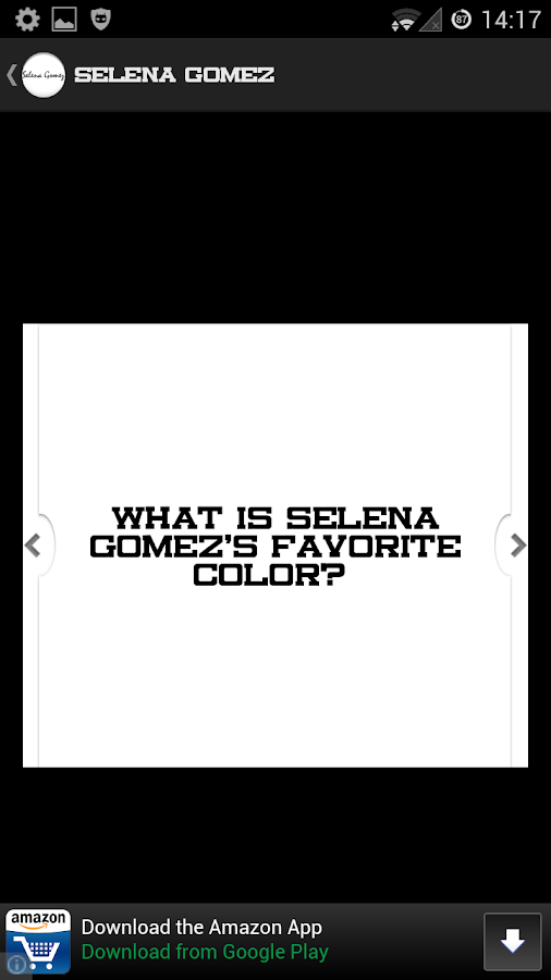 Selena Gomez Quiz - screenshot