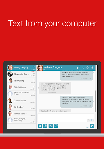 SMS from PC / Tablet & Sync Text from Computer screenshot