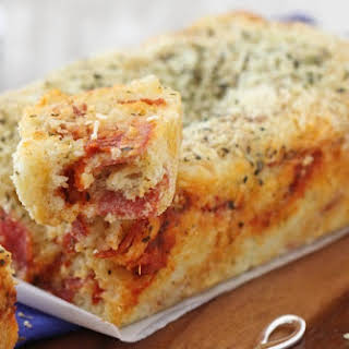Cheesy Pepperoni Pizza Quick Bread.