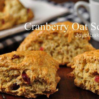 Cranberry Oat Scones Recipe & Video