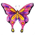 Colorful Butterfly Tattoos logo