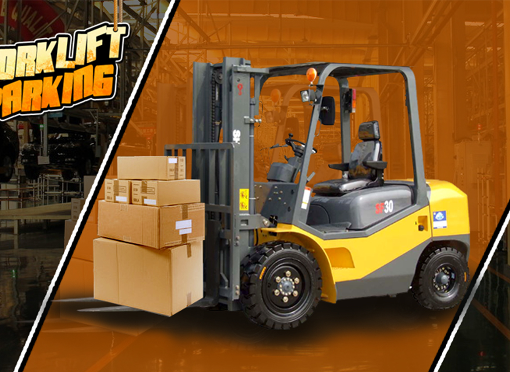 3D forklift parking Madness - screenshot