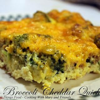 Crustless Bacon Broccoli Cheddar Quiche