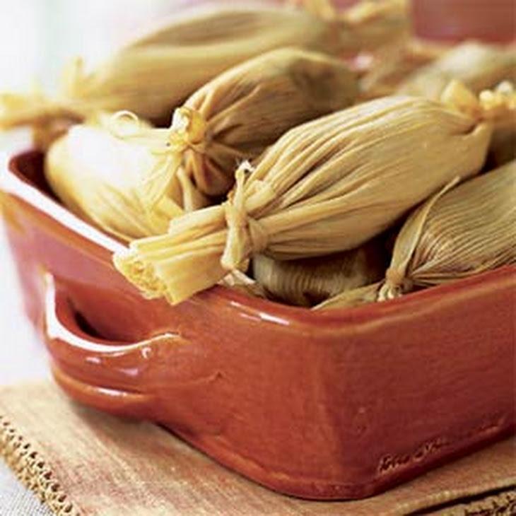 Chile-Spiced Sweet Potato Tamales Recipe