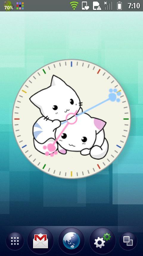 Kitten Clock Widget- screenshot