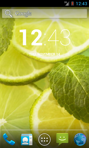 Lime And Mint. Live Wallpaper.