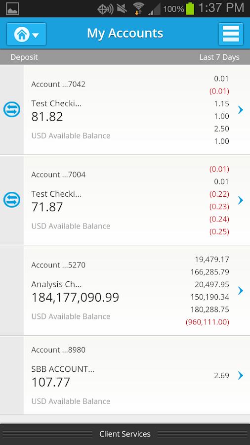 SVB Mobile Banking - screenshot
