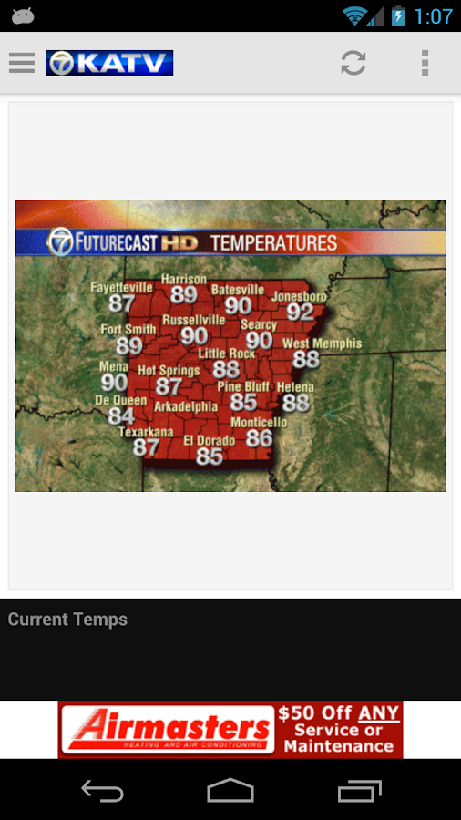KATV Channel 7 Weather - Android Apps on Google Play