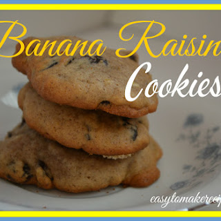 Banana Raisin Cookies