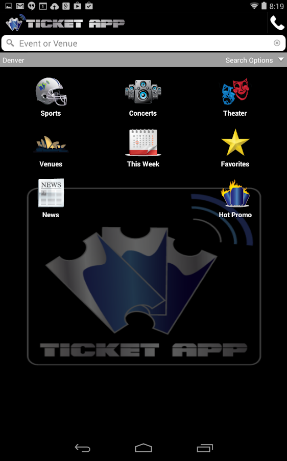 TICKET APP - Concerts & Sports- screenshot