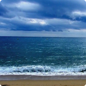 Cloudy Ocean Waves Live HD