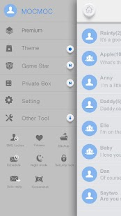 GO SMS PRO WHITESOUL THEME- screenshot thumbnail