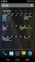 Screenshot of Pure Grid calendar widget