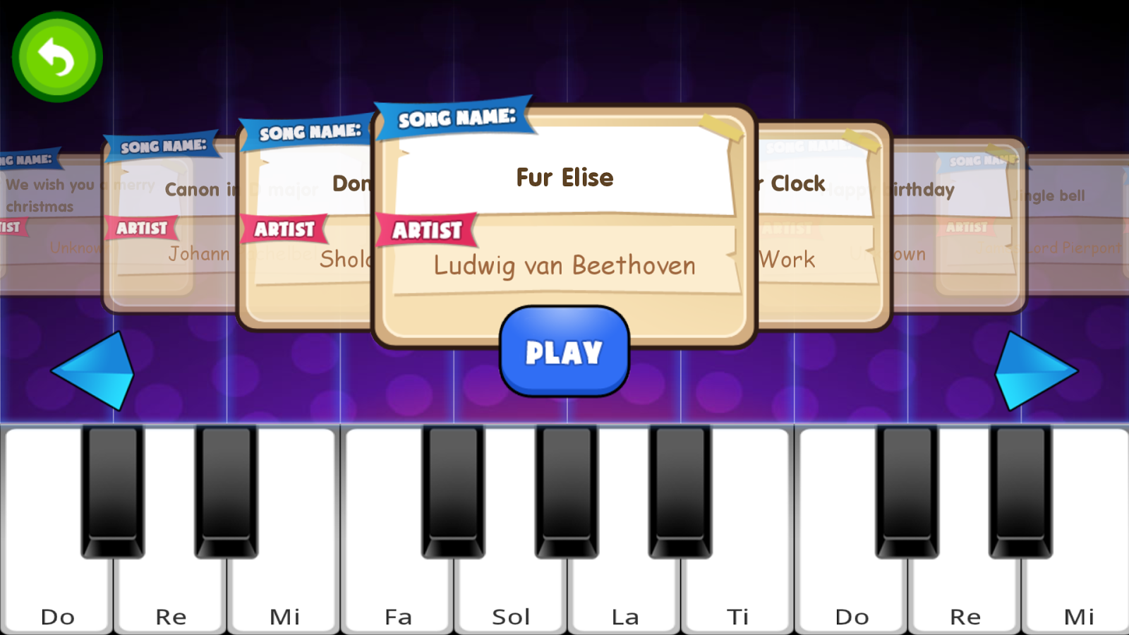 Fun Piano for kids - screenshot