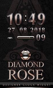 digital clock diamond rose