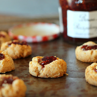 Jam Thumbprint Cookies (GF, Vegan)