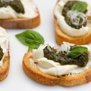 Pesto Cheese Crostini Recipe