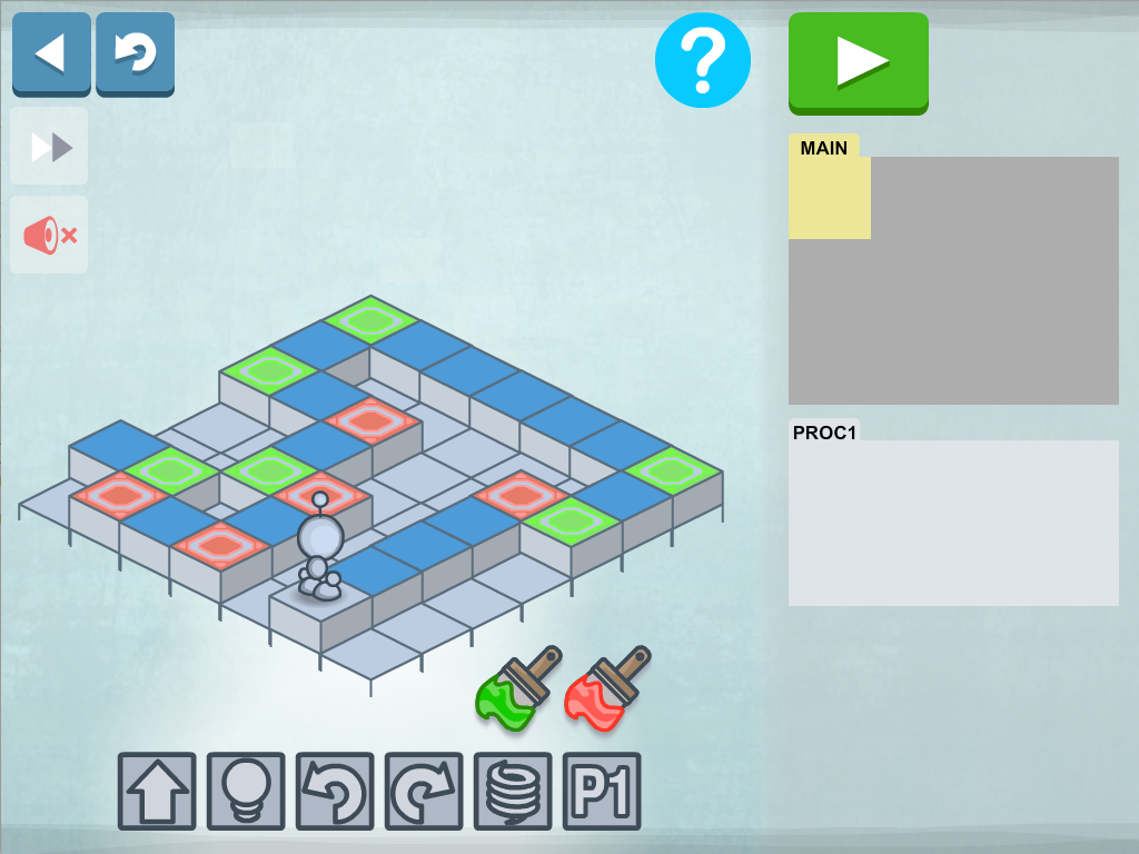 Lightbot Programming Puzzles - screenshot