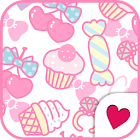 Cute wallpaper★pinky sweets icon