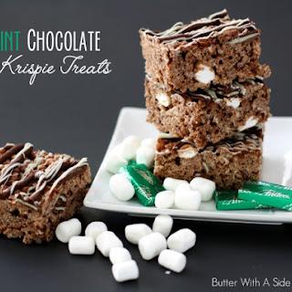 MINT CHOCOLATE KRISPIE TREATS
