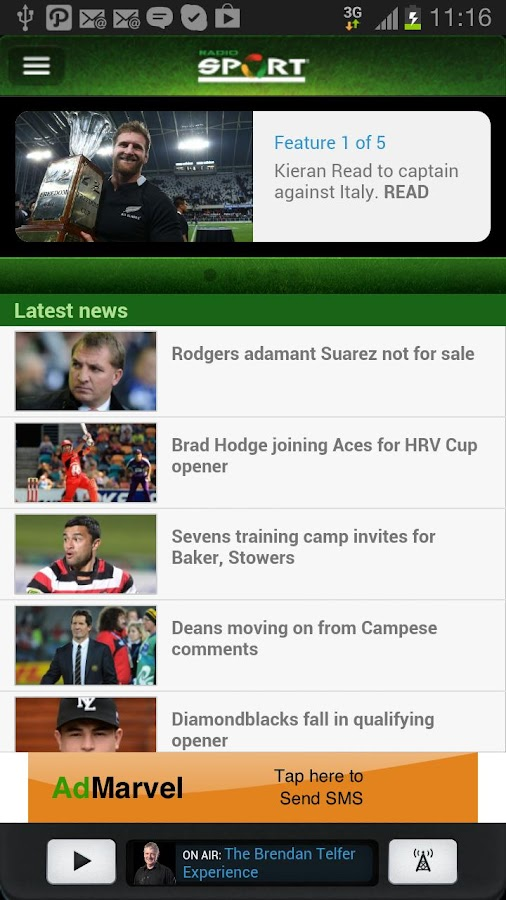 Radio Sport- screenshot
