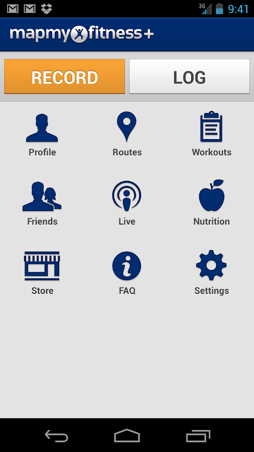 MapMyFitness+ Workout Trainer - screenshot