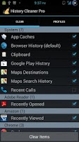 Screenshot of History Cleaner Pro for Root