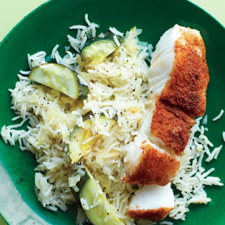 Spice-Rubbed Fish with Lemony Rice