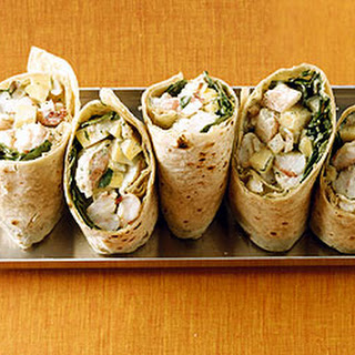 Mango and Shrimp Wraps