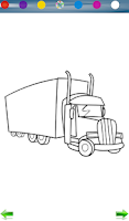 Screenshot of Coloring: Trucks