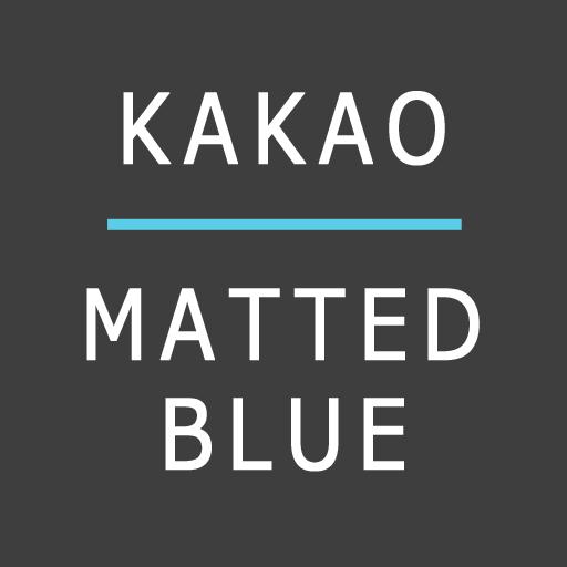 카카오톡 테마 MattedBlue LOGO-APP點子