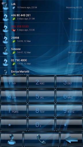 Dialer GlassMetalFrame Azure