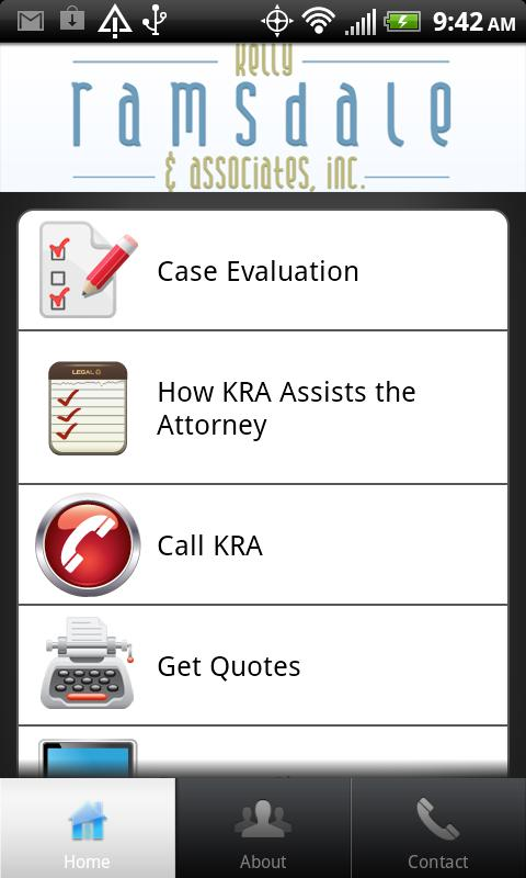 Kelly Ramsdale & Associates- screenshot