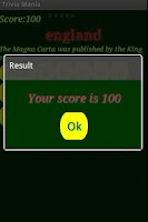 Screenshot of Quiz Mania