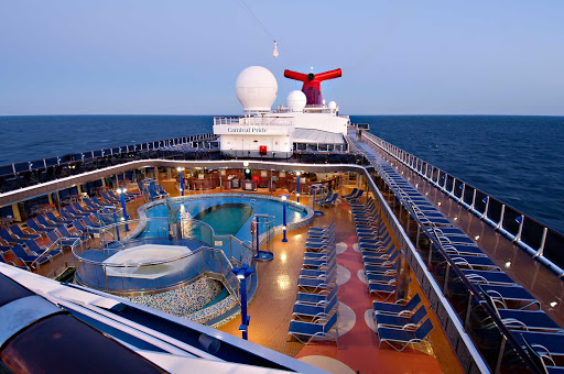 Carnival-Pride-Apollo-Pool - Enjoy the sea breeze and summer sun by the Apollo Pool aboard Carnival Pride.
