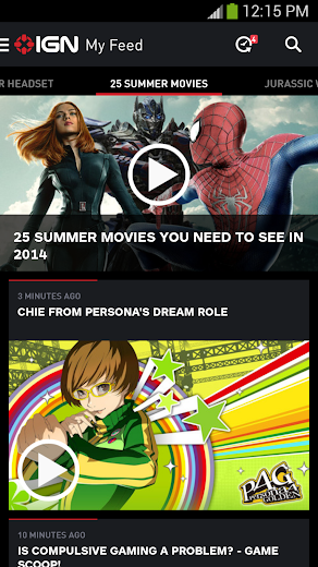 Screenshot 0 for IGN's Android app'