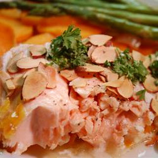 Salmon With Scalloped Sweet Potatoes.