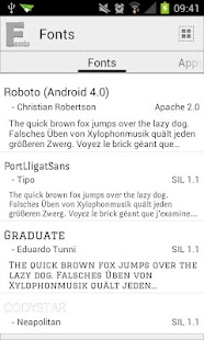 Fonts - screenshot thumbnail