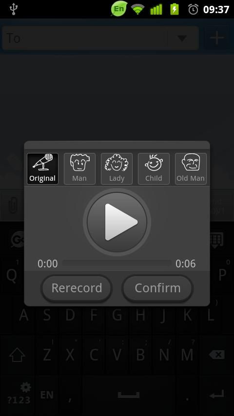 GO Keyboard Voice Changer - screenshot