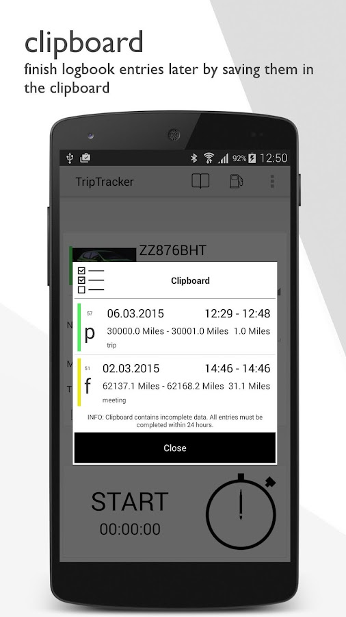 TripTracker PRO - logbook- screenshot