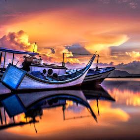 Sky Light by Muhammad Syuhada - Transportation Boats