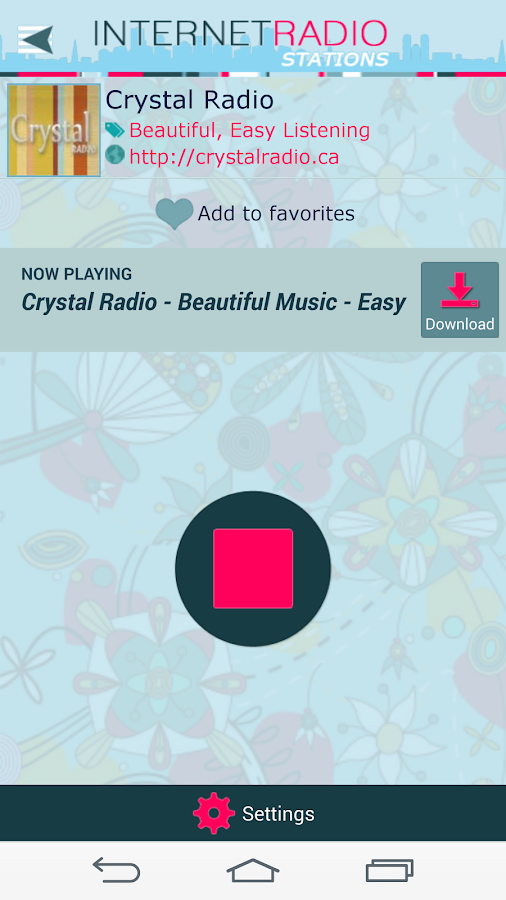 Internet Radio Stations- screenshot